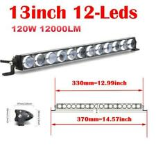 1pc 120W LED Work Lights Spot Fog Offroad Lamp For ATV UTE SUV 13'' Straight