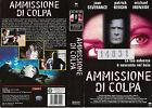 AMMISSIONE DI COLPA (2000) vhs ex noleggio
