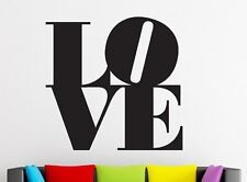 LARGE  LOVE Heart Bedroom Decor Wall Art Decal Words Lettering Sticker