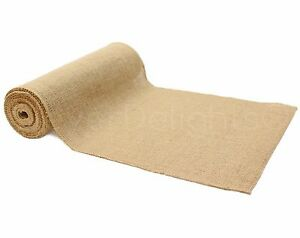 "12"" Premium Burlap Roll - 10 Yards - Finished Edges - Natural Jute Burlap Fabric"