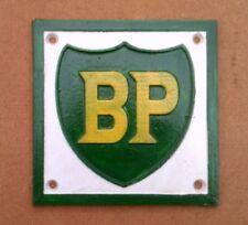 Heavy Cast Metal Square BP Petrol Station Sign  not enamel petrol oil