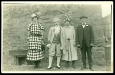 REAL PHOTO POSTCARD - ACTORS/ACTRESS IN COSTUME