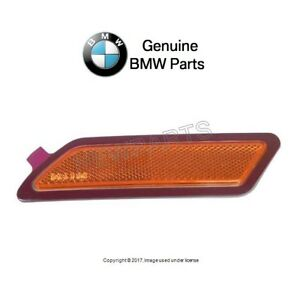For E90 328i 335i Front Driver Left Reflector Bumper Cover Lens Yelllow GENUINE