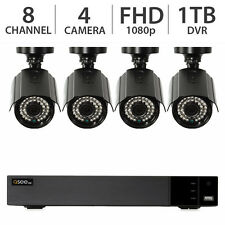 Q-See 8-Channel 4-Camera 1080p Surveillance Security System w/ 1TB HDD DVR - NEW