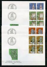 SCHWEIZ Nr.1272-1275 VIERERBLOCK SCHMUCK-FDC PRO PATRIA 1984 (127179)