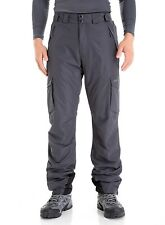 Trailside Supply Co. Men's Insulated Snow Pant (Dark Grey+Black,M)