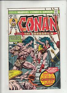 Conan the Barbarian #58 (Marvel 1976) Roy Thomas John Buscema 1st Belit! VG+