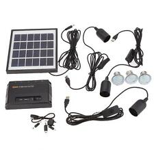 Solar Power Panel LED Light Lamp USB Charger Home System Kit Outdoor Garden Path