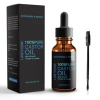 100% Pure Castor Oil for Hair Growth Thicker Longer Organic Cold-Pressed 1 @yi