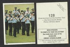 AUSTRALIA 1983 SCANLENS CRICKET STICKERS SERIES 2 - BAND AT SYDNEY TEST #128