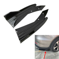 2Pcs Car Rear Bumper Spoiler Lip Splitter Diffuser Winglet Wings Glossy Black