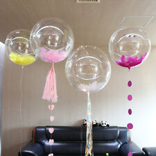 10Pcs Clear PVC Balloons Super Transparent Birthday Party Decoration Ballons 24""