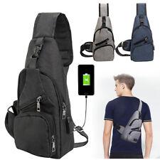 Men Anti-Theft Backpack USB Charging Port Travel Sling Bag Fashion Chest Pack