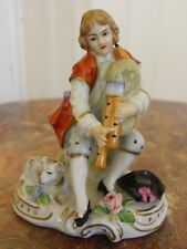Bezaubernde antike Porzellan-Figur, Sitzendorf Thüringen - Jüngling - M / F: 925