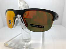 AUTHENTIC OAKELY SUNGLASSES SLIVER EDGE OO9413-02 MATTE BLACK INK/PRIZM RUBY LEN