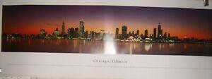 "Chicago Downtown Panaramic Photo Print by Christopher Gjevre Blakeway  38"" x 13"""