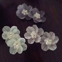 Fashion Women Petals Acrylic Crystal Big White Camellia Flower Stud Earrings