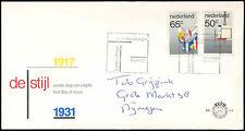 Netherlands 1983 De Stijl Art Movement FDC First Day Cover #C27816