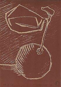 "Dimitris C. Milionis ""FRUIT"" Limited E/A Edition Signed lithography Greek 1997"