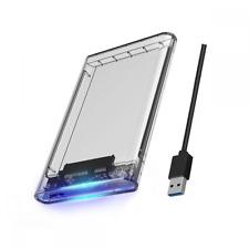 """Orico 2,5"""" USB 3.0 Boîtier de Disque Dur Externe - Transparent (2139U3-CR-PRO)"""