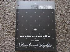New listing Marantz Pm750 Dc Stereo Console Amplifier Original Service Repair Manual