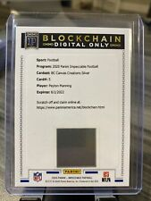 2020 Panini Impeccable Peyton Manning DIGITAL ONLY blockchain Card #5 Blockchain