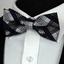 Premium fatto a mano in tessuto Plain Solid controllo Linea Uomo Pre-Legato Bow Tie /& Hanky Set