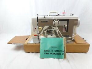Vintage Janome New Home 677 Embroidery/Upholstery/Fabric ZigZag Sewing Machine.