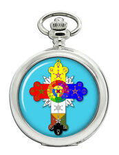 Rose Cross Christian Pocket Watch