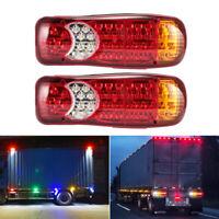 2x 46 LEDs Rückleuchten Set 12V Heckleuchte Rücklicht Anhänger LKW Traktor PKW