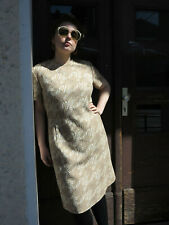 Elvi Damenkleid Unterkleid funky Muster Mini 60er TrueVINTAGE 60s women´s dress