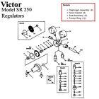 Victor SR250D SR250C Oxygen Regulator Rebuild/Repair Parts Kit w/ Diaphragm