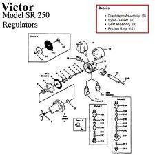 Victor Sr250d Sr250c Oxygen Regulator Rebuildrepair Parts Kit With Diaphragm