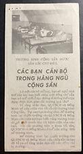 Original Vietnam War Aerial Leaflet Communist wounded are well taken care of