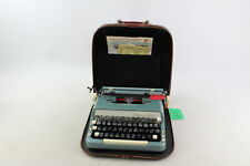Vintage IMPERIAL The Good Companion Blue Portable TYPEWRITER w/ Carry Case