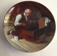 "The Edwin M Knowles China Company Plate "" Grandpa's Gift "" Norman Rockwell 8.5"""
