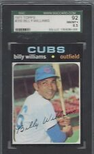 1971 Topps baseball card #350 Billy Williams, Chicago Cubs SGC 92 NMMT+ 8.5