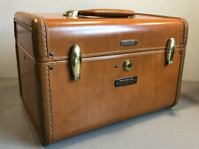 Vintage Samsonite 4612 Train Travel Make Up Cosmetic Case - Brown