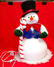 "Vintage Trendmasters Indoor 22"" Tall Light-Up Snowman With Candy Cane (#Xm1136)"