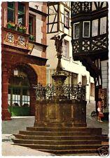 AK, Bernkastel-Kues Mosel, Rathaus mit St.-Michael-Brunnen, 1970