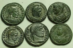 Genuine Ancient Roman SUPERB coin Constantine captives Jupiter Camp-gate Victory