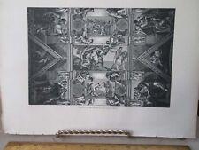 Vintage Print,CEILING SISTINE CHAPEL,Rome,Francis Wey,1872