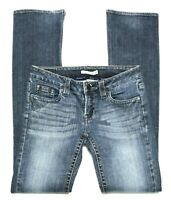 Women's Refuge Slim Boot Cut Jeans Distressed Stretch Low Rise Size 3 Inseam 32