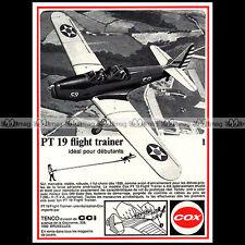TENCO COX PT 19 FLIGHT TRAINER AVION (1971) - Pub Publicité Ad Advert #A1576