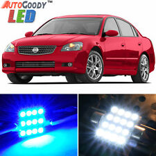 13 x Premium Blue LED Lights Interior Package Kit for Nissan Altima 02-06 + Tool