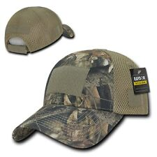 Camo Flag Patch Low Crown Cotton Mossy Mesh Bark Oak Tactical Operator Cap Hat