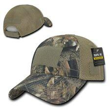 Camo Flag Patch Low Crown Cotton Mossy Mesh Bark Oak Tactical Operator Cap Hat