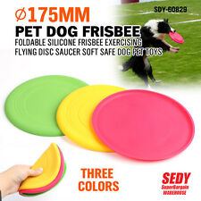 FLYING DISC FRISBEE GAME DOG EXERCISING TRAINING SAUCER PLASTIC SAFE PET TOY