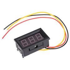 Mini DC 0-99.9V Voltmeter LED Panel 3-Digital Display Voltage Meter 3-wire