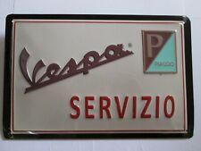 VESPA SERVIZIO , BLECHSCHILD mit PRÄGUNG  20 x 30 cm